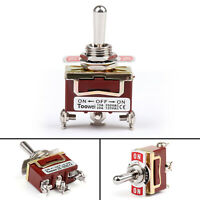 Toowei 3 Terminal 3Pin ON-OFF-ON 15A 250V Toggle Switch Screw SP3T Grade BK