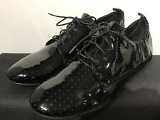 House Of Harlow 1960 Shoes Lace Up Derby  Black Patent Leather Size: 38.5 NWOB