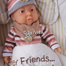 IVITA 2000g 16'' Preemie Reborn Baby Girl Realistic Silicone Dolls Baby Born