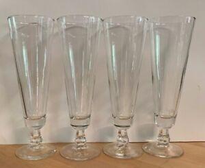 VINTAGE JOE CAMEL LOUNGE TALL PILSNER BEER BAR GLASSES-ETCHED-SET OF 4 MAN CAVE