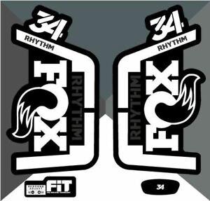 Fox 34 Rhythm Decals/Stickers - White