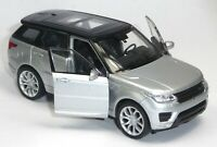NEU: Modellauto Range Rover Sport ca. 11,5cm silber metallic Neuware von WELLY