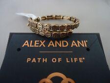 Gold Bangle New W /Tag Card & Box Alex and Ani Path Of Life Wrap Russian