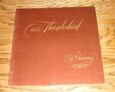 Original 1975 Ford Thunderbird 20th Anniversary Sales Brochure 75