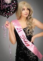 Pink 21st Birthday Flashing Sash
