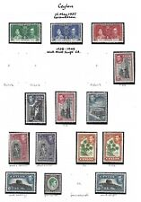 Ceylon.  Collection of 61 stamps, 1937 to 1954, Mint.