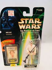 Star Wars The Power of the Force Luke Skywalker with Blaster Rifle Action Figure