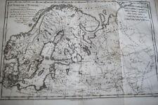 DANEMARK NORVEGE SUEDE LAPONIE RUSSIE  CARTE ANCIENNE BONNE 1788 R1218