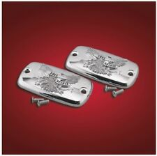 Honda VTX1800 S R/Retro T/Tourer Free Spirit CHROME Master Cylinder CAP/LID pair