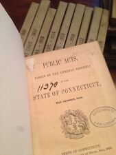 1851-1859 Public Acts  of the state of Connecticut Antique Law Books American