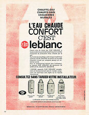 PUBLICITE ADVERTISING 084  1963  ELM LEBLANC   chaudières chauff-eau chauffe-ba