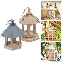 Bird Feeder Garden Hummingbird with Roof Hanging Wild Bird Feeding Sta uND$N