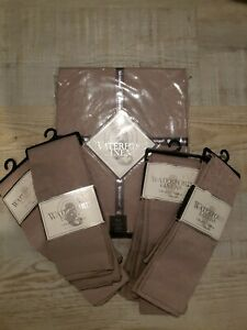 """WATERFORD LINENS Sarah 90"""" ROUND TABLECLOTH & 8 Napkins NEW with tags"""