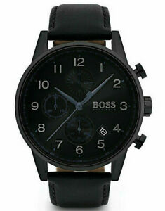 Hugo Boss Herren Armbanduhr Navigator Chrono 44mm Schwarz HB1513497