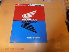 HONDA CB750 FIIt GENUINE SHOP/ADDENDUM MANUAL WITH WIRING DIAGRAM