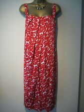 Max Mara red and white patterned dress size 46 UK 14