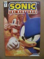 Sonic The Hedgehog #1 IDW SEGA 2018 Series RI-B 1:25 Variant 9.2 Near Mint-