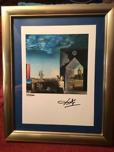 Salvador Dali Original 1974-Hand Signed Lithograph with COA, New Frame