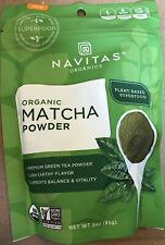 NAVITAS ORGANICS Organic Matcha Green Tea Powder - 3 Oz.  Plant-based Superfood!