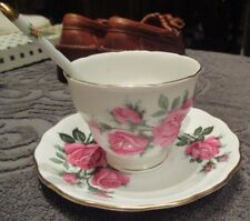 Royal Vale Bone China Tea Cup Saucer, & spoon - Made in England -