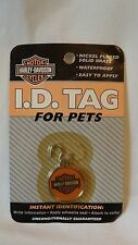 Harley~Davidson I.D. Tags For Pets Nickel plated Brass