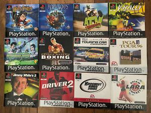Playstation 1 Original Manuals Bundle X12 Official PS1 Instruction Booklets