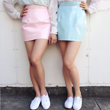 SOLD OUT American Apparel A Line Vinyl Skirt, Pink Size S