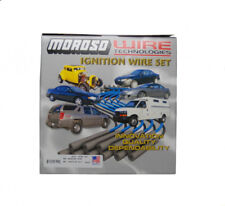 Moroso Spark Plug Wire Set 9075M; Mag-Tune Race 8mm Black 45° for Chevy 454 BBC