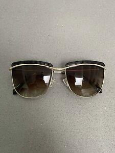 BALMAIN Women's BL2521 Square Aviator Sunglasses 143 56 17 Cat. 3 Brown Tortoise
