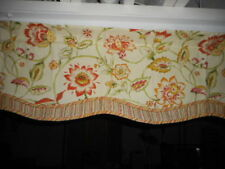 "FALLANI & COHN VALANCES 1 PAIR LAYERED MULTI COLORED 63"" W X 15"" L 3"" POCKET ROD"