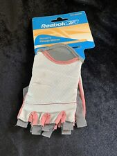 Reebok Women's Gym Premium Fitness Gloves Medium Gray And Pink (ee)