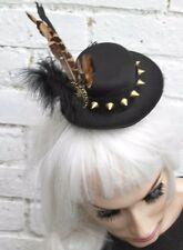 Mini top hat feather skull gothic lolita goth emo indie grunge halloween