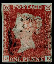 SG 8, 1d red-brown PLATE 32, FINE used. Cat £60. BLACK MX. 4 MARGINS. OB