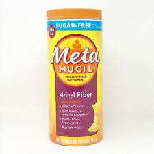 METAMUCIL fibra senza zucchero supplemento ORANGE 26.6 OZ 4 in 1 FIBRA