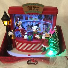 Mickey Minnie Mouse Animated Christmas Light Music Gift Shop Tabletop Piece Goof