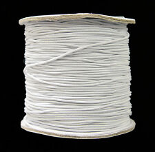 White 1mm dia. Elastic Cord string 328 feet Spool for crafts beading  sewing