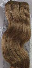 "22"" Remy Human Hair Extensions Weft 100g Wavy BODY #16"