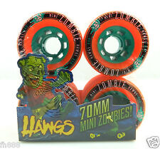 Landyachtz Mini Zombie Hawgs 70mm 84a Pro Longboard Wheels Set of 4 Orange