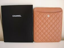 Chanel Caramel Quilted Leather iPad tablet holder cover case w/box new authentic