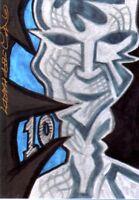 TNA Jeff Hardy Artwork #107 2012 TENacious RED Short Print Insert Card SN 9 / 10