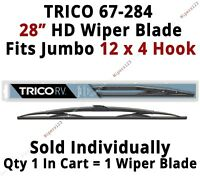 """TRICO 67-284 Wiper Blade for RV Bus Coach Commercial Truck 28"""" HD 12x4 Hook Arms"""