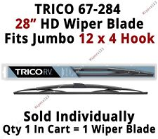 "TRICO 67-284 Wiper Blade for RV Bus Coach Commercial Truck 28"" HD 12x4 Hook Arms"