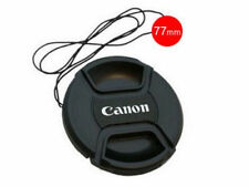 NEW 77 mm Size Snap-on Central Pinch Front Lens Cap Cover For Canon with String