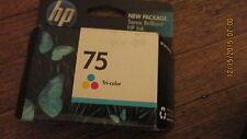 New Genuine HP CB337WN #75 Tri-Color Ink Cartridge - Sealed Retail Pak 2011EXP
