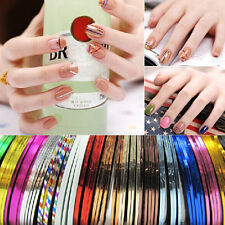 30Pcs Mixed Colors Rolls Striping Tape Line Nail Art Tips Decoration Sticker .US