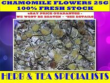 CHAMOMILE FLOWERS ORGANIC25g TEA ☆RELAXATION☆ DE-STRESS ☆ HERBAL☆