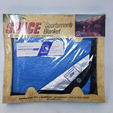 Vintage NRC The Original Space Marke Sportsman`s Blanket BLUE NOS Mid Century
