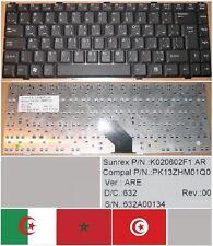 CLAVIER QWERTY ARABE ASUS Z96, K020602F1, PK13ZHM01Q0 Noir
