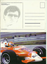 Alfa Romeo F1 179 Bruno Giacomelli 1980 Dutch Grand Prix Signed Card