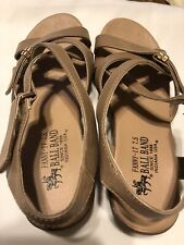 BALL BAND BROWN LEATHER SANDAL Size 8